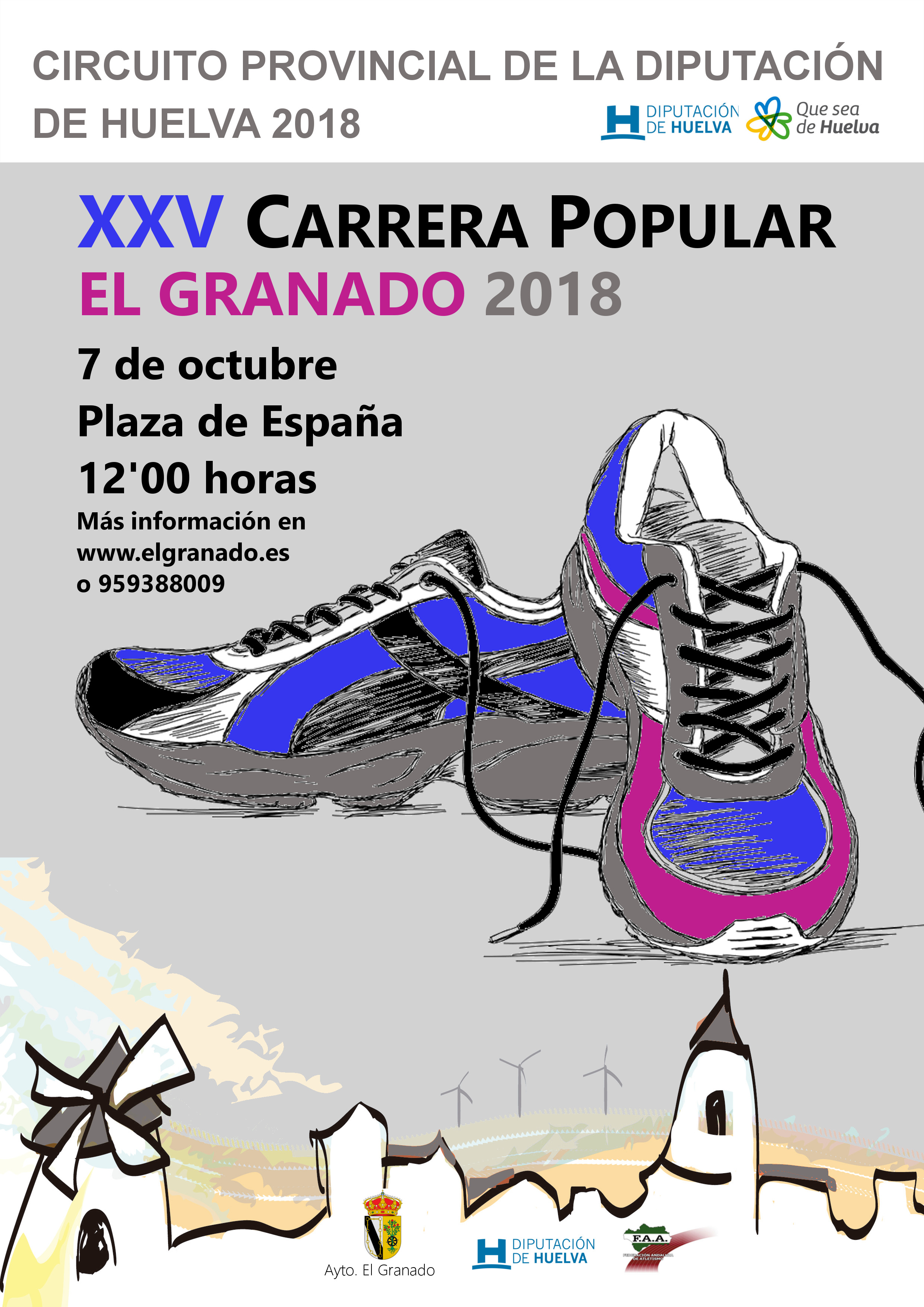 Cartel XXV Carrera Popular El Granado 2018