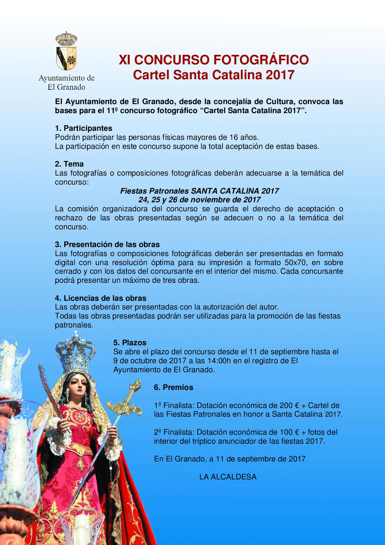 Convocatoria  Concurso Cartel Santa Catalina 2017