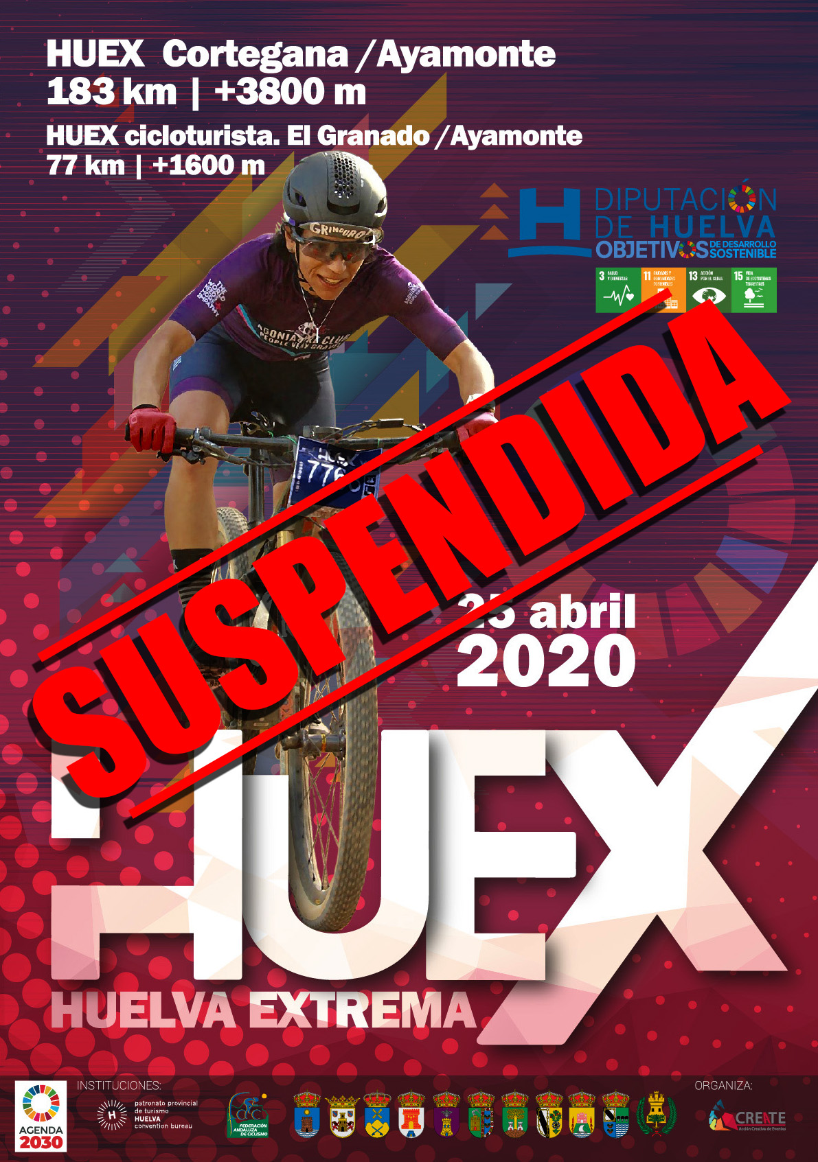 cartel SUSPENDIDA